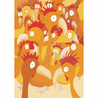 Chickens Print Small