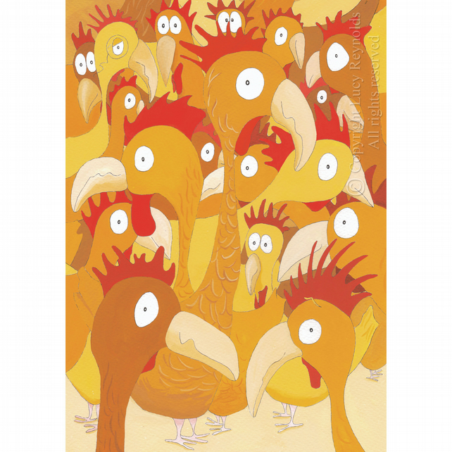 Chickens Easter Card 50% off