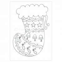 Colour-me-in Stocking Card