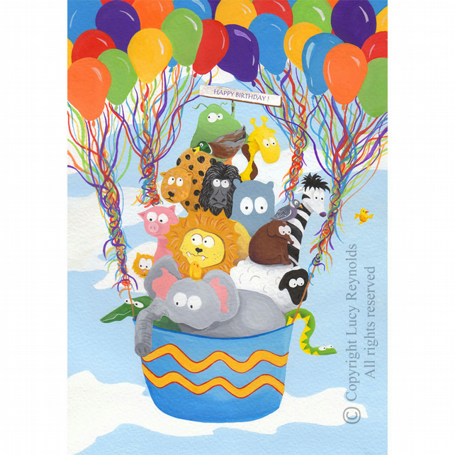 Balloon Animals Birthday Card