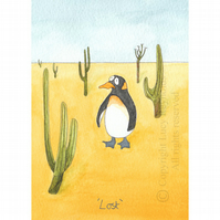 Lost Penguin Card A6