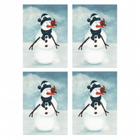 Snowman Christmas Cards (set of 4)