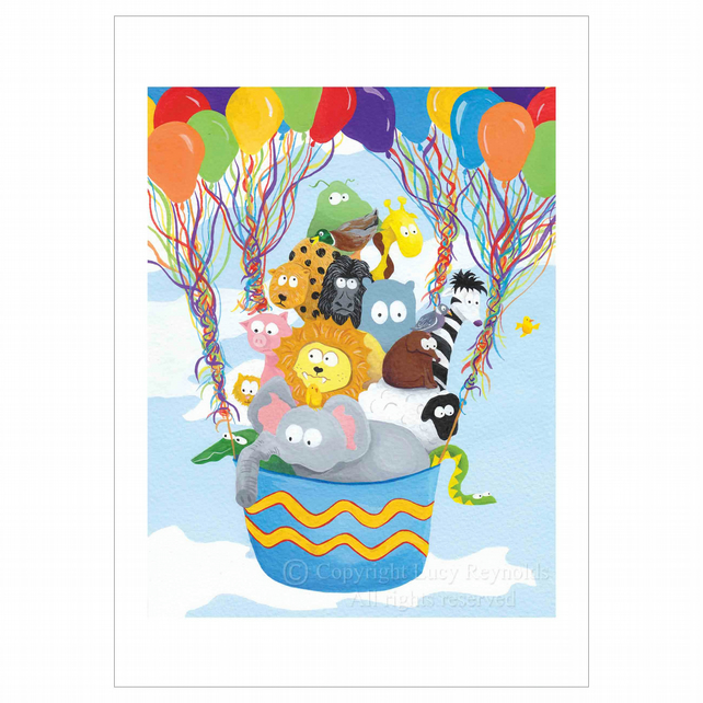 Balloon Animals Print (A3)