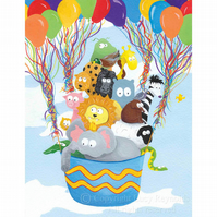 Balloon Animals Print Large