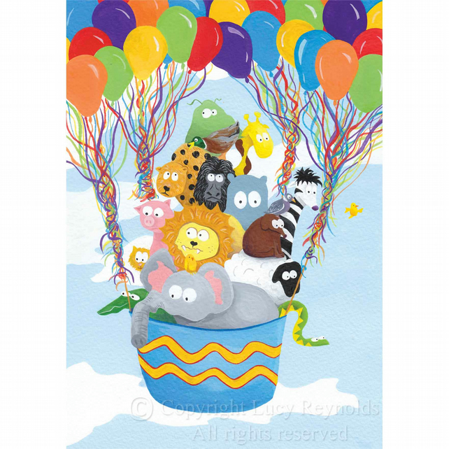 Balloon Animals Print (A4)