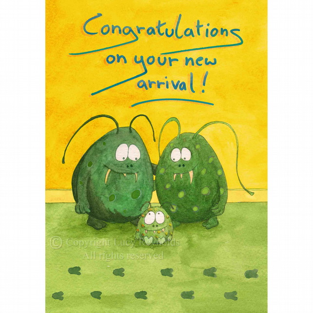 New Baby Card A5