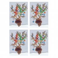 Antlers Christmas Cards (set of 4)