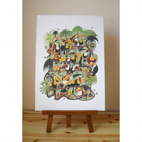 Toucan Jungle Print Large