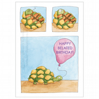 Sleepy Tortoise Card