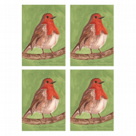 Robin Christmas Cards (set of 4)