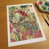 Garden Print 10 by 7 inches