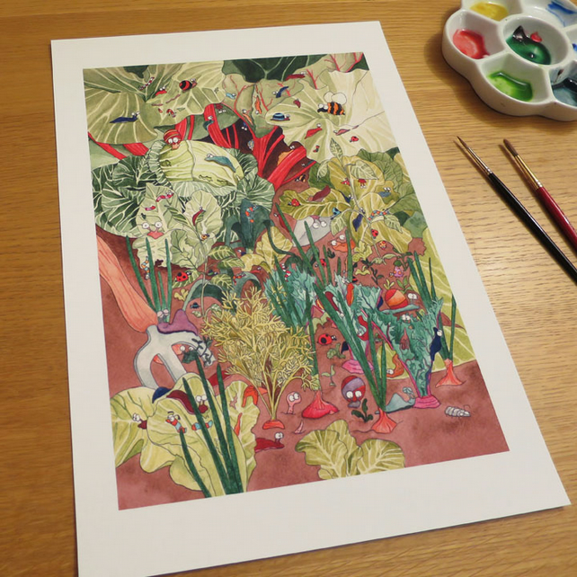 Garden Print 13.5 by 9.5 inches