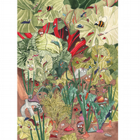 Garden Greeting Card -  'Invading Hordes'