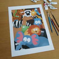Animals & Aliens Print Large