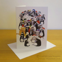 Penguins Card A5