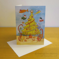 Underwater Christmas Card A5