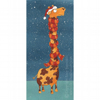 Giraffe in a Scarf Christmas Card