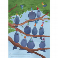 Party Pigeons Card A5