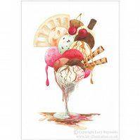 Ice-Cream Card A5