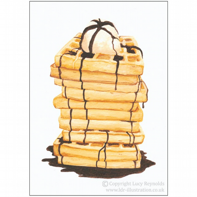 Waffle Tower Card A5