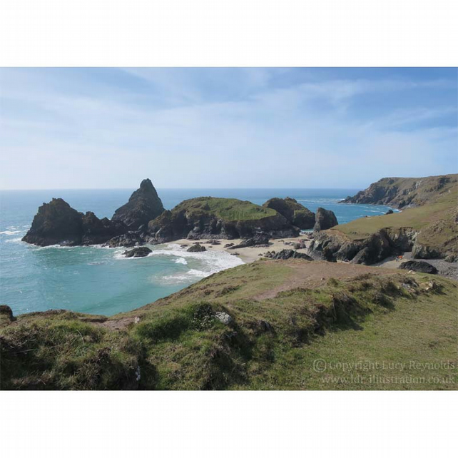 Kynance Cove Print 10 by 7 inches