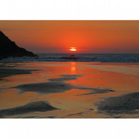 Sunset at Polly Joke Print 10 by 7 inches