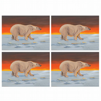 Polar Bear Christmas Cards A6 (Set of 4)