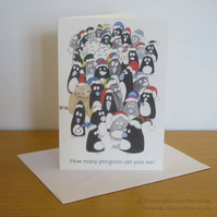 HALF PRICE SALE - Penguins Christmas Card