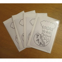 Colour-me-in Stocking Cards