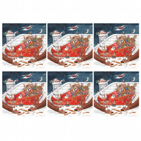 Sneaky Seagulls Christmas Cards - Pack of 6