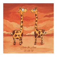 Personalisable Giraffe Print Large
