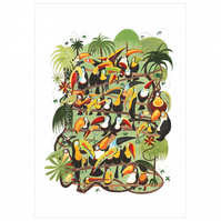 Toucan Jungle Print Small
