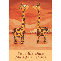 Save the Date Cards - Giraffes