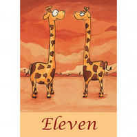 Table Numbers 11-20 Giraffes