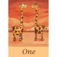 Table Numbers 1-10 Giraffes