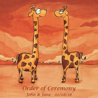Order of Ceremony Cards - Giraffes