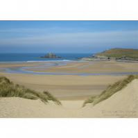 Crantock Through the Dunes Print