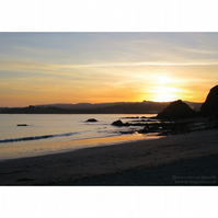 Sunset at Polkerris Print