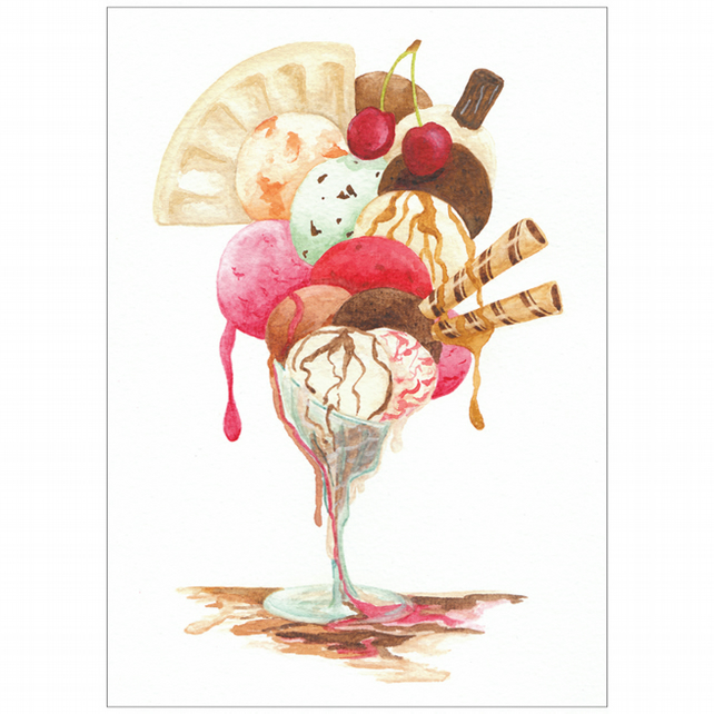 Ice-Cream Postcard