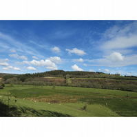 Lostwithiel Countryside Print