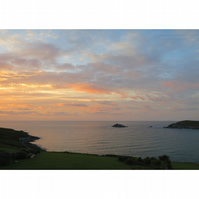 Crantock Bay Sunset Print