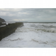 Storm Waves at Charlestown Print