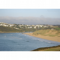 Crantock Bay Evening Light Print