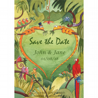 Save the Date Postcards - Snake Heart
