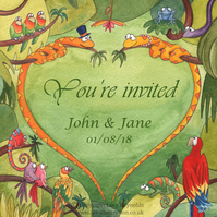 Wedding Invitations - Snake Heart