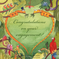 Snake Heart Engagement Card