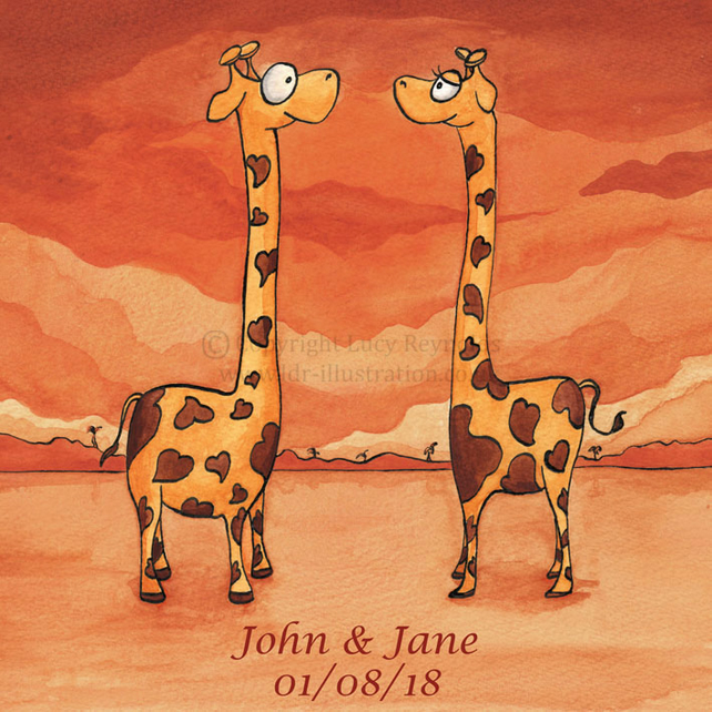 Wedding Invitations - Giraffes