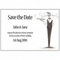Save the Date Postcards - Canapé anyone?