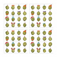 Smiley Sprouts Christmas Cards - Pack of 4