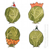 Small Smiley Sprouts Christmas Card